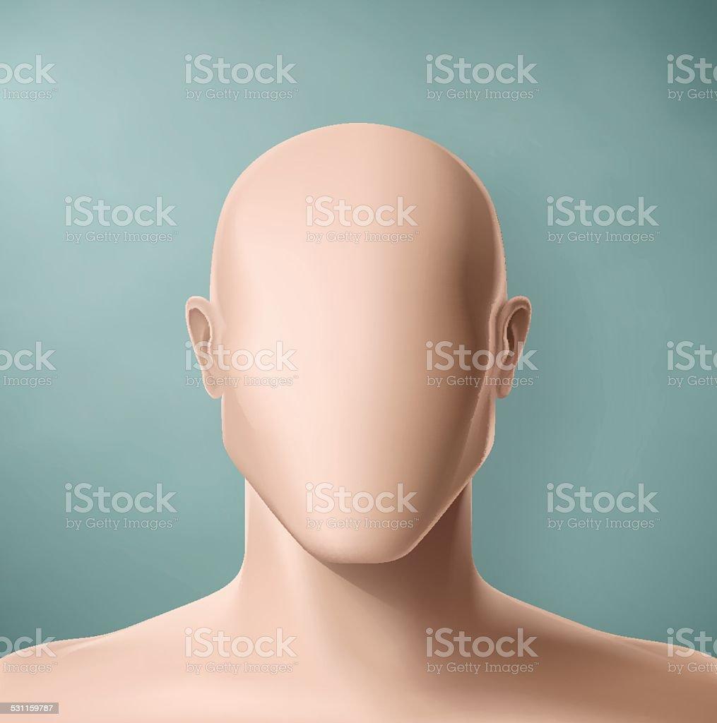 The Faceless vector art illustration