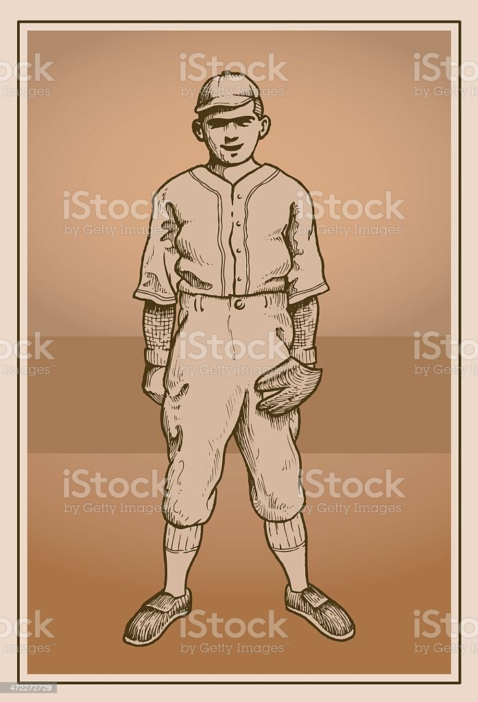 The Fielder vector art illustration