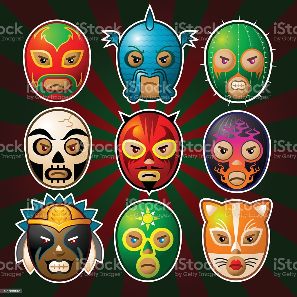 Los Luchadores royalty-free stock vector art
