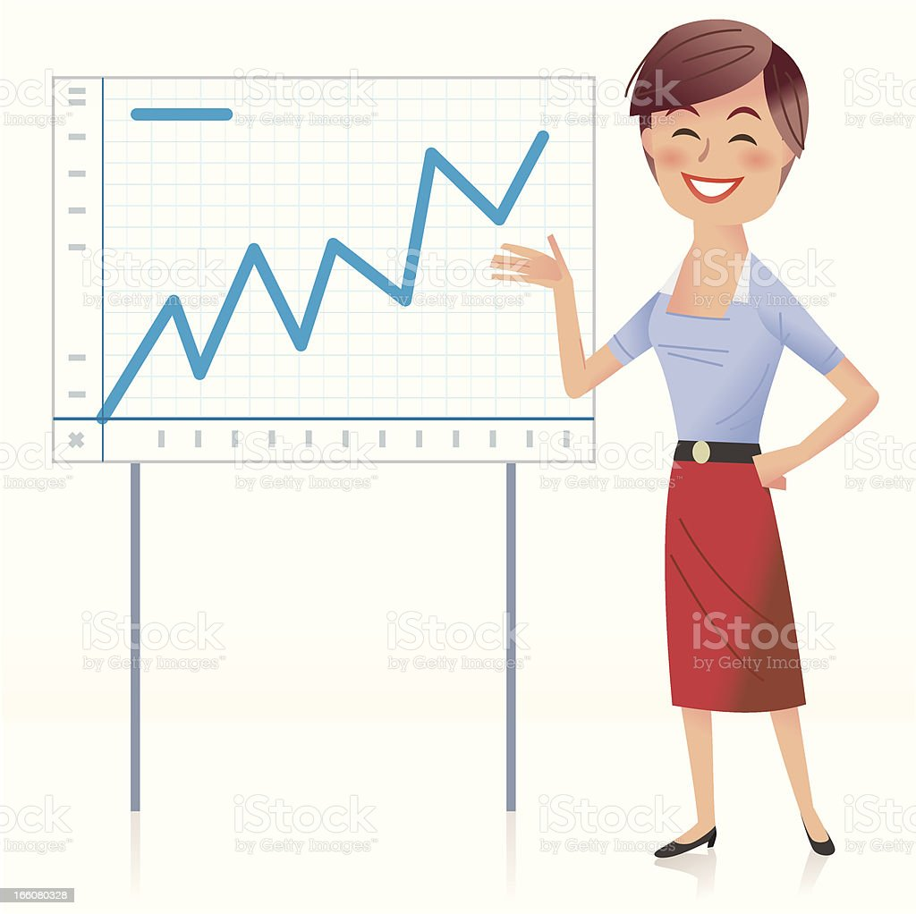 The figures speak for themselves royalty-free stock vector art