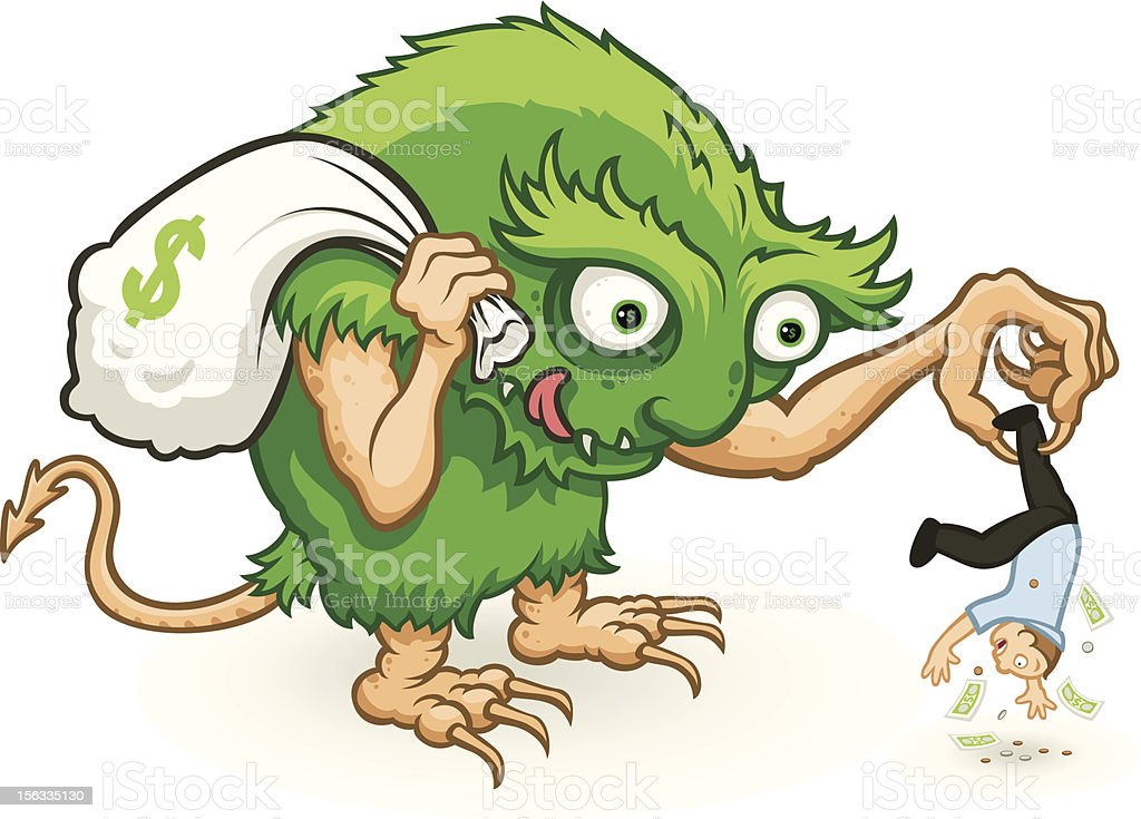 The financial monster royalty-free stock vector art