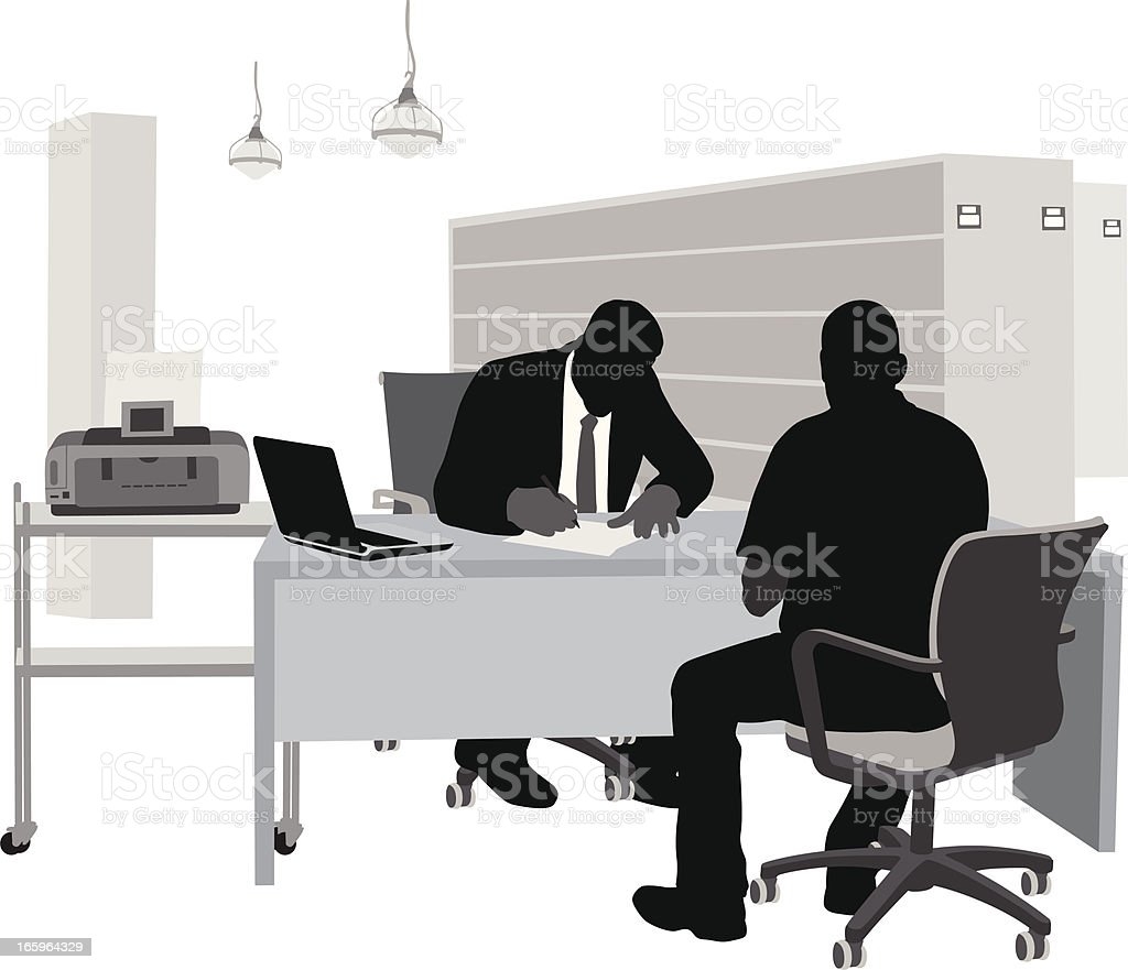 The Fine Print Vector Silhouette royalty-free stock vector art