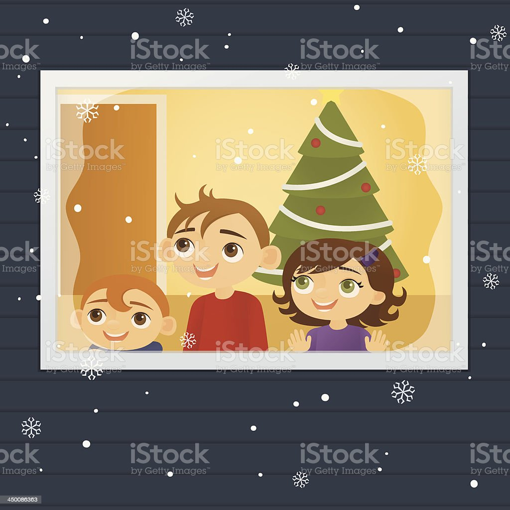 The First Snow vector art illustration