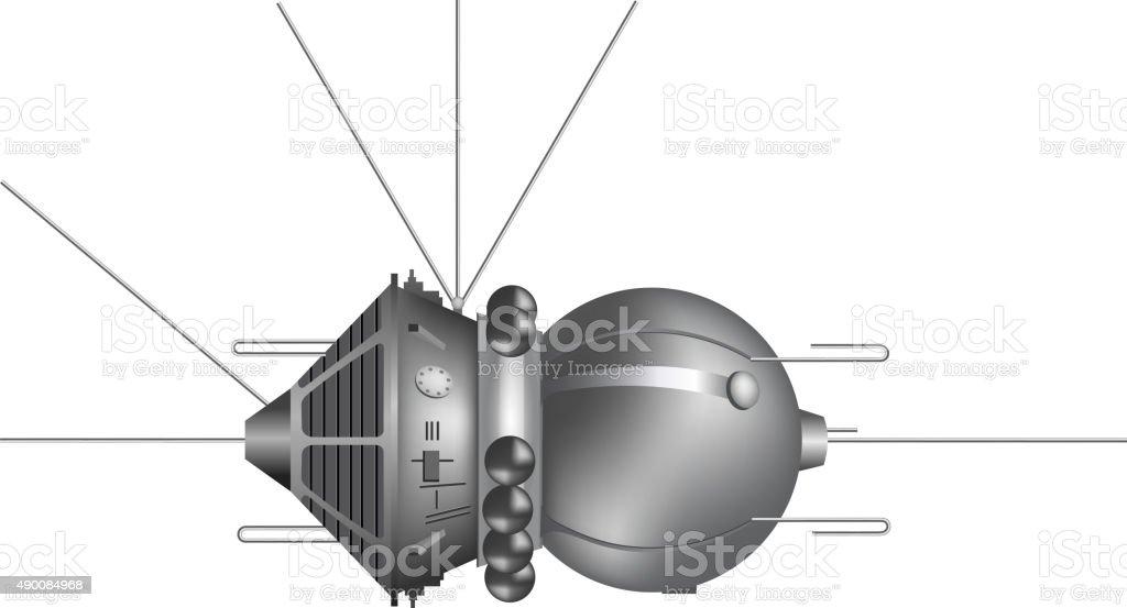 The first spaceship 'Vostok'. Vector illustration vector art illustration