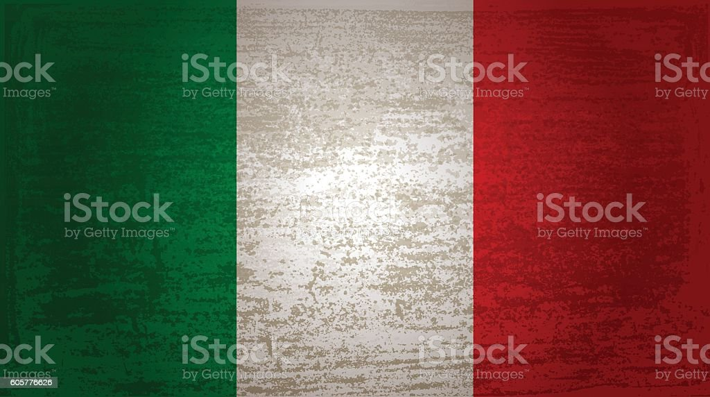 The flag of Italy vector art illustration