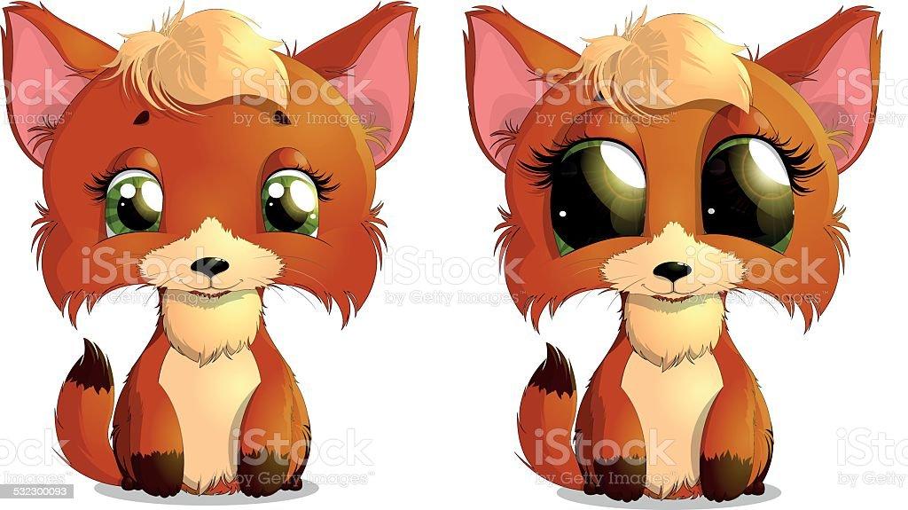 the fox vector art illustration