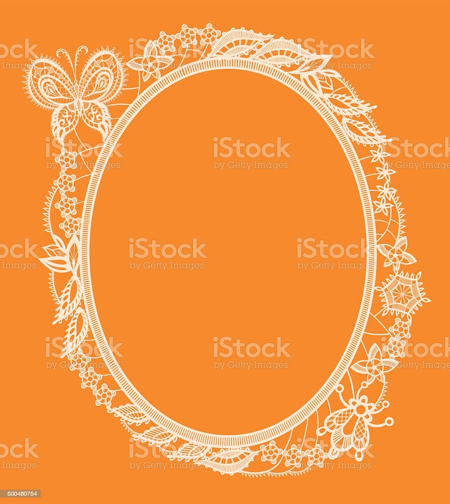 The frame of the elements of abstract lace vector art illustration
