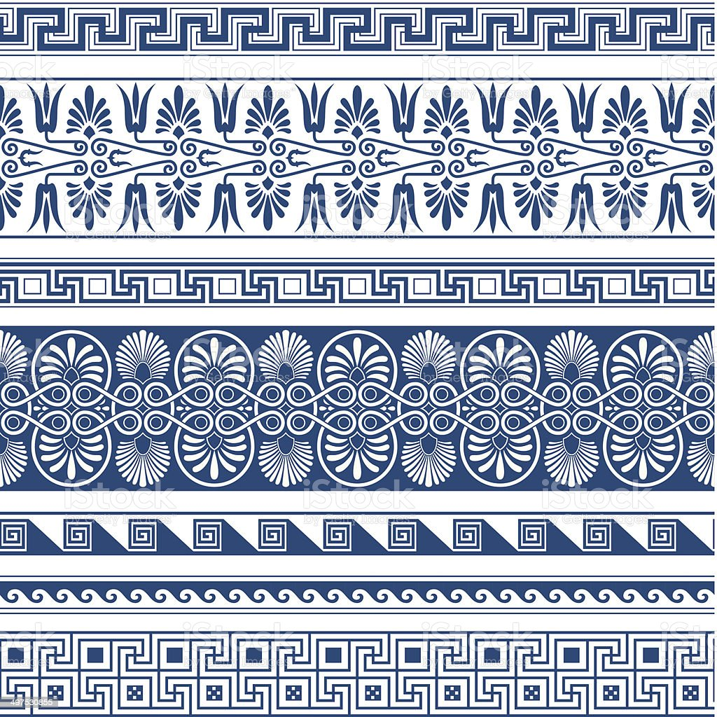 The Frames of ancient Greek style vector art illustration