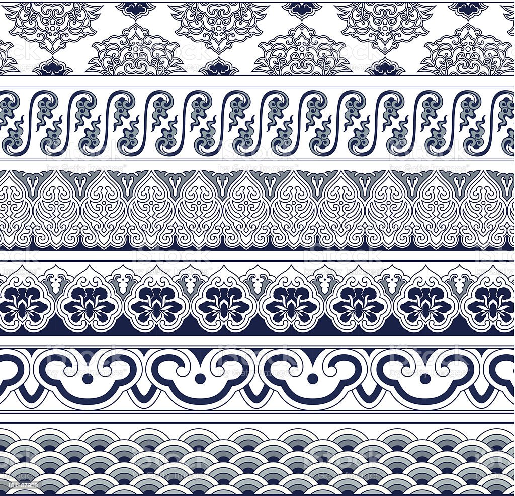 The Frames of Chinese Style vector art illustration