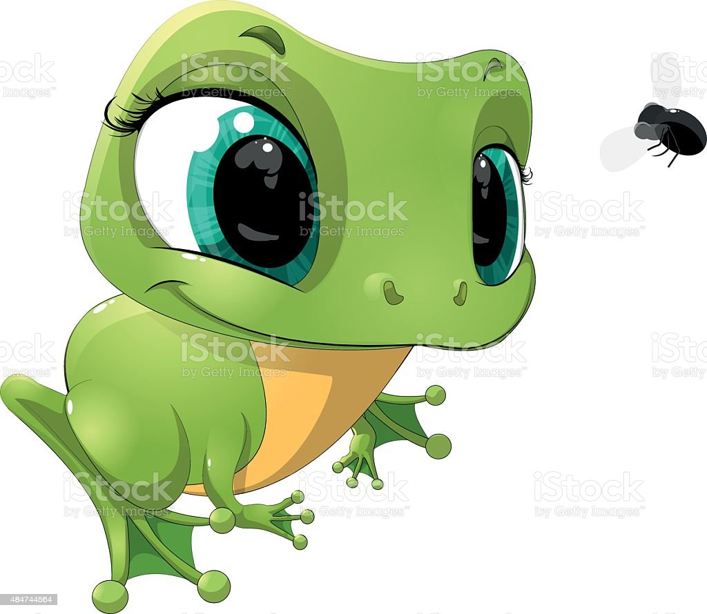 the frog vector art illustration