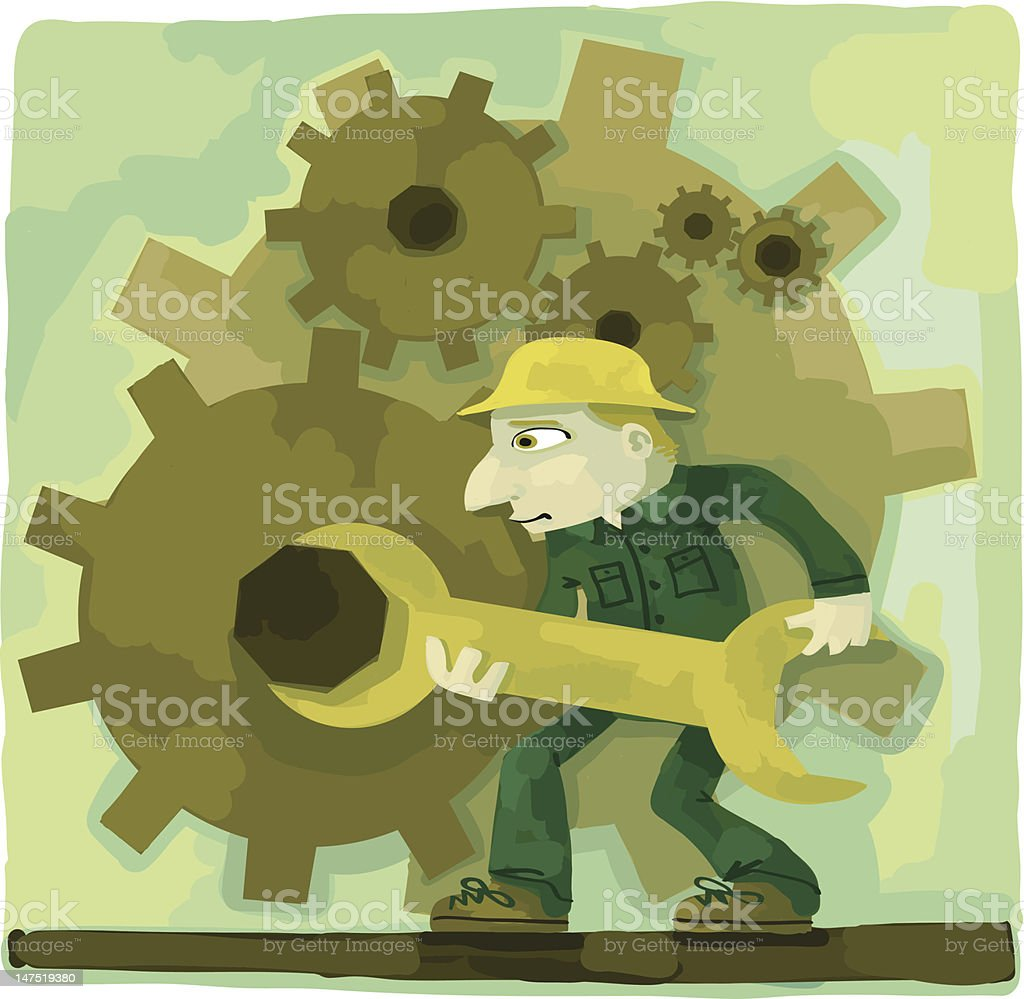 The gears of industry royalty-free stock vector art