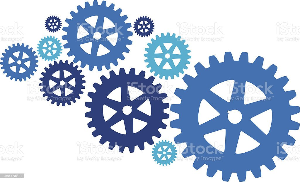 The gears vector art illustration