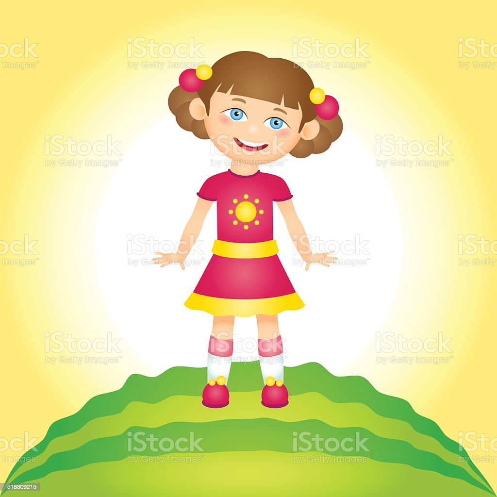 The girl in a sunny weather royalty-free stock vector art