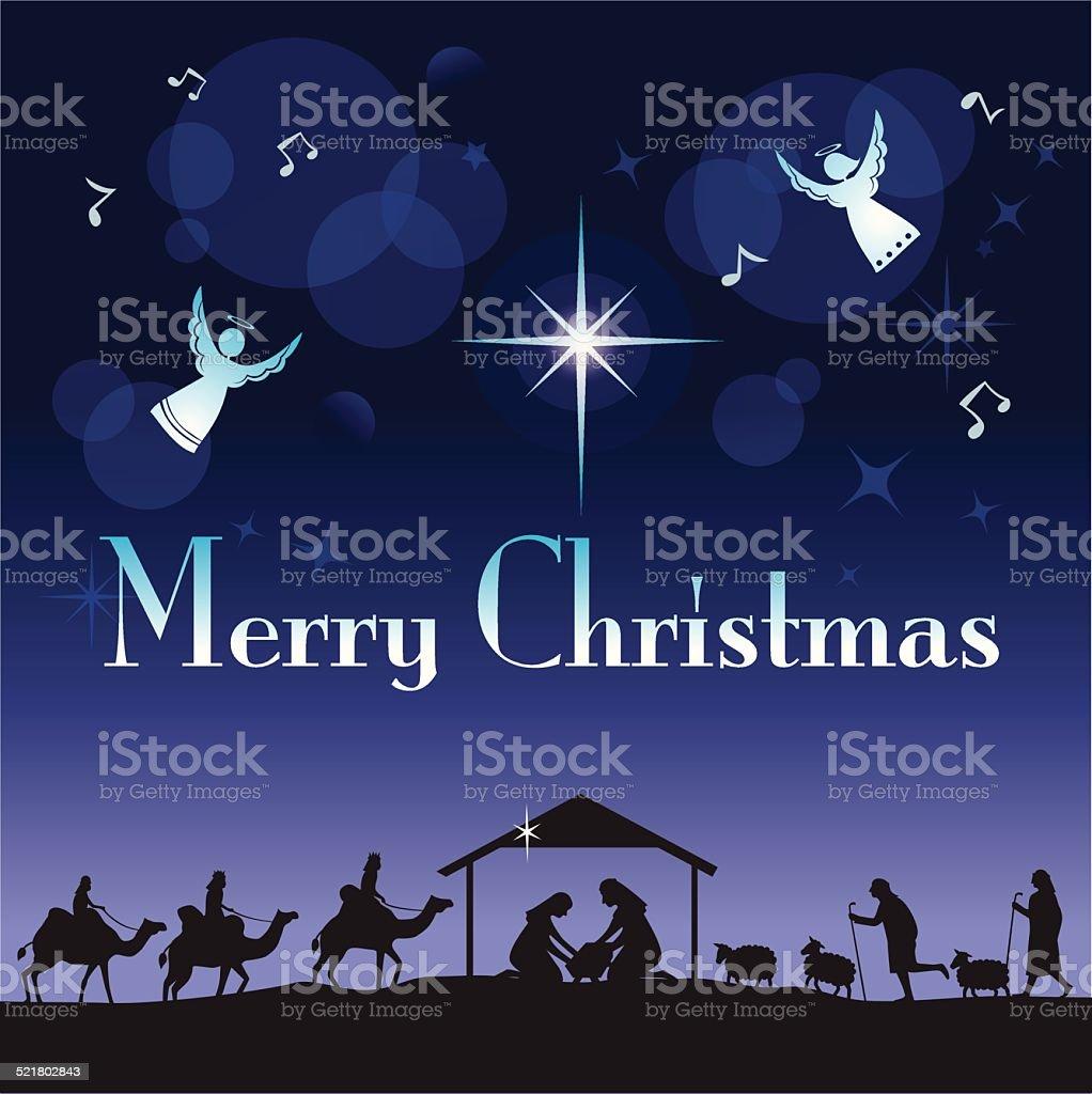 The Glory of Christmas vector art illustration