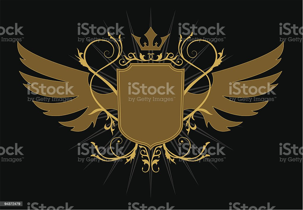 The Glory. Wing and crown royalty-free stock vector art