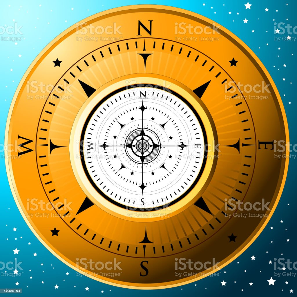 The Golden Compass royalty-free stock vector art