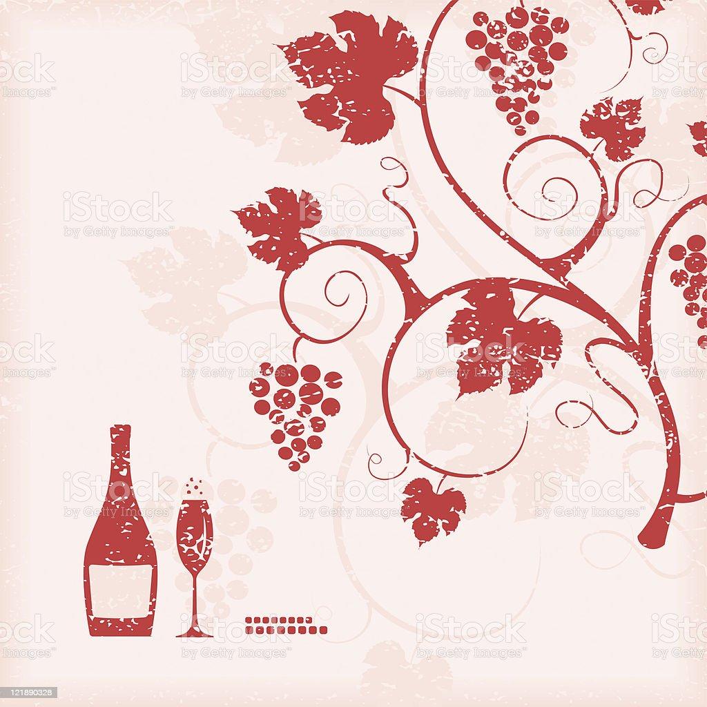 The grape vine background. royalty-free stock vector art