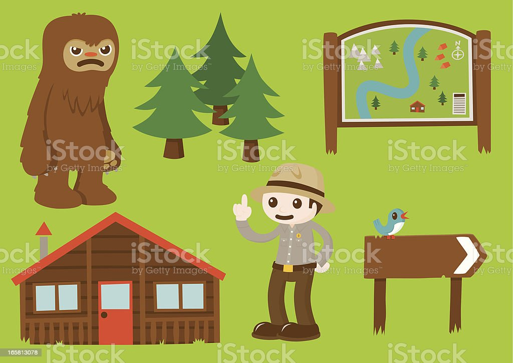 The Great Outdoors - Element Set 2 royalty-free stock vector art