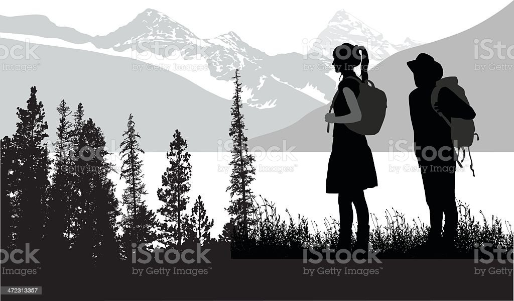 The Great Outdoors royalty-free stock vector art