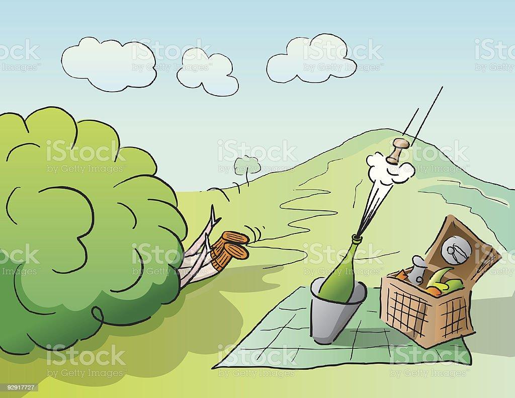 The GREAT outdoors (vector & jpeg) vector art illustration