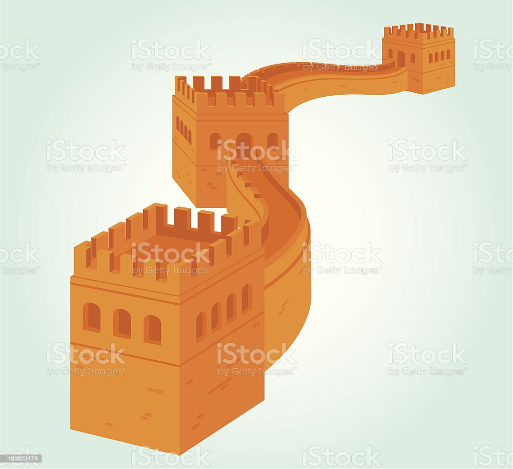 The Great Wall vector art illustration