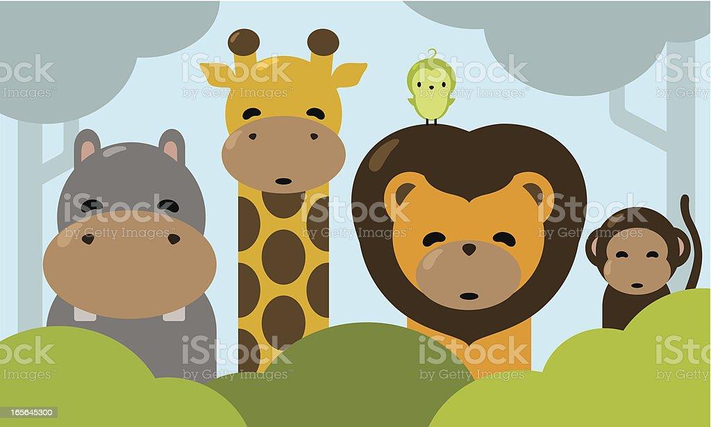 The Happy Jungle royalty-free stock vector art
