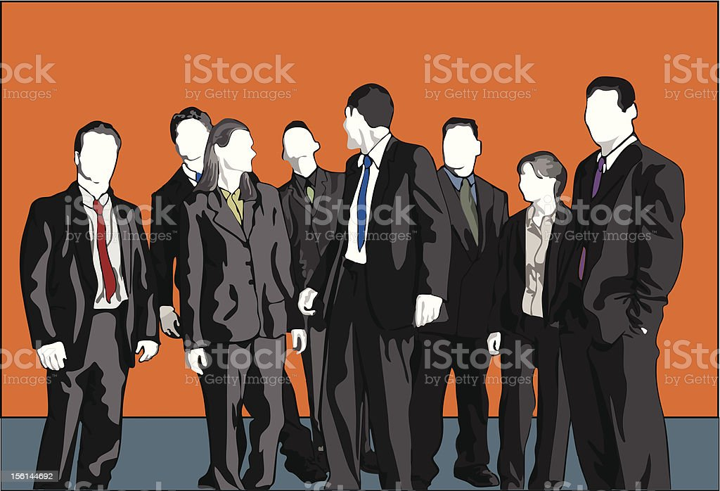 The Happy Team (Vector) royalty-free stock vector art