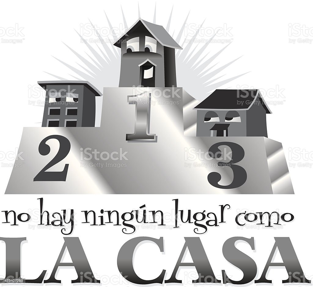 La Casa Heading royalty-free stock vector art