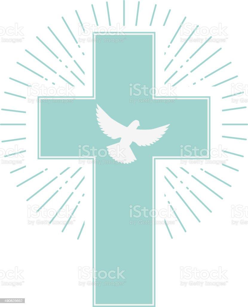 the holy spirit vector art illustration