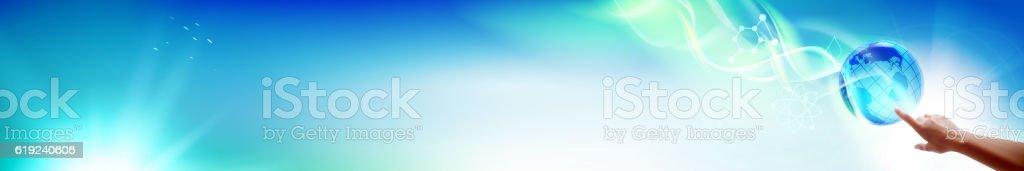 The Horizontal banner. vector art illustration
