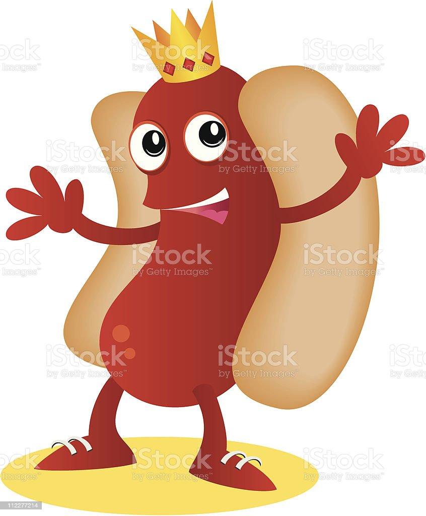 The Hotdog King royalty-free stock vector art