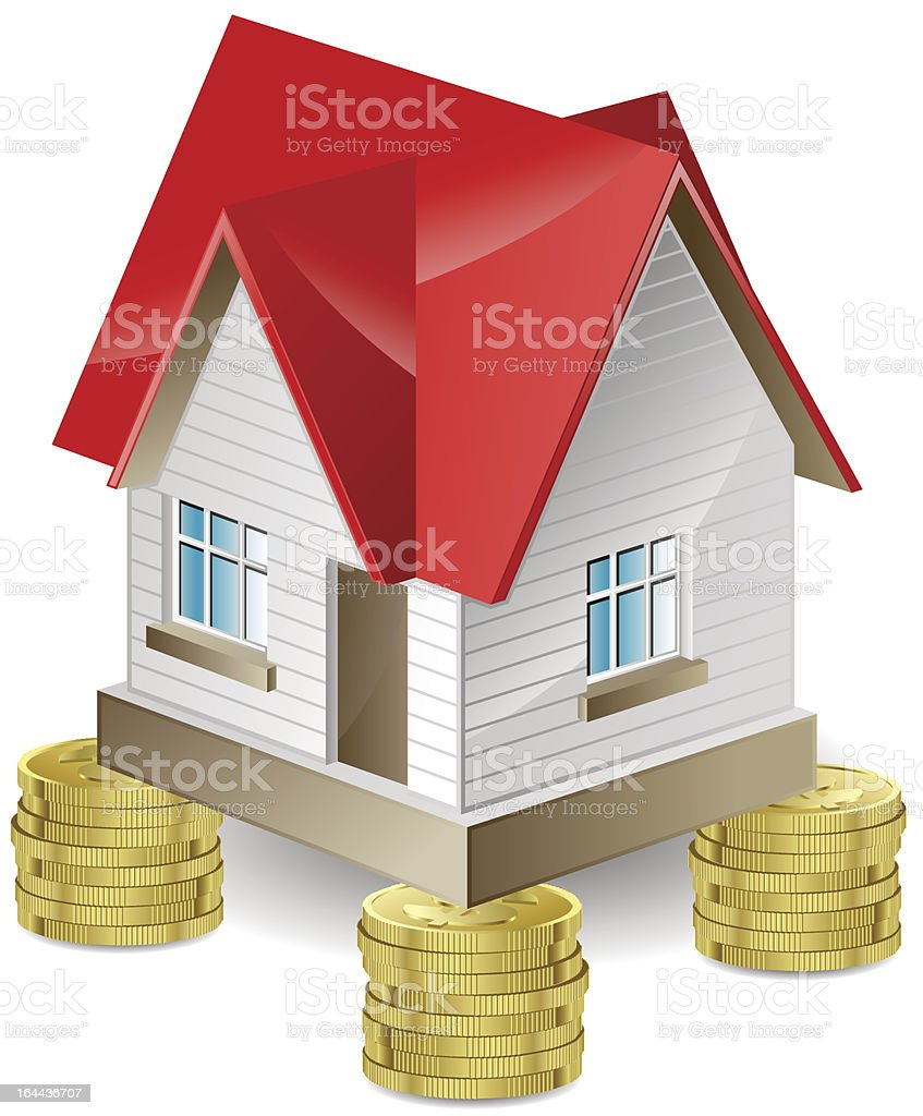 The house on money royalty-free stock vector art