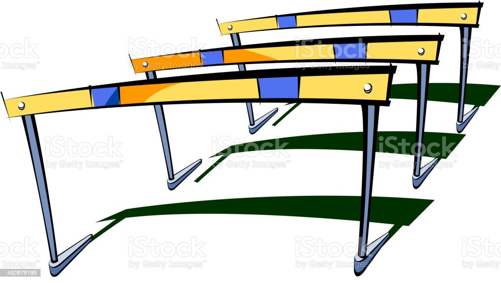 The hurdles vector art illustration