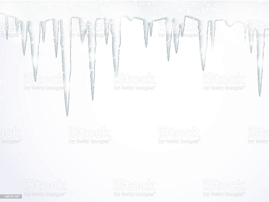 The icicles vector art illustration