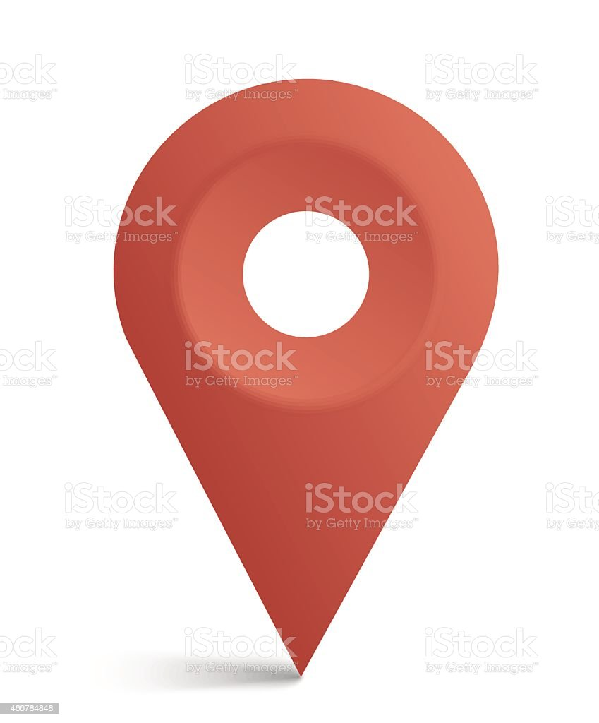 The icon used on a map to find current location vector art illustration