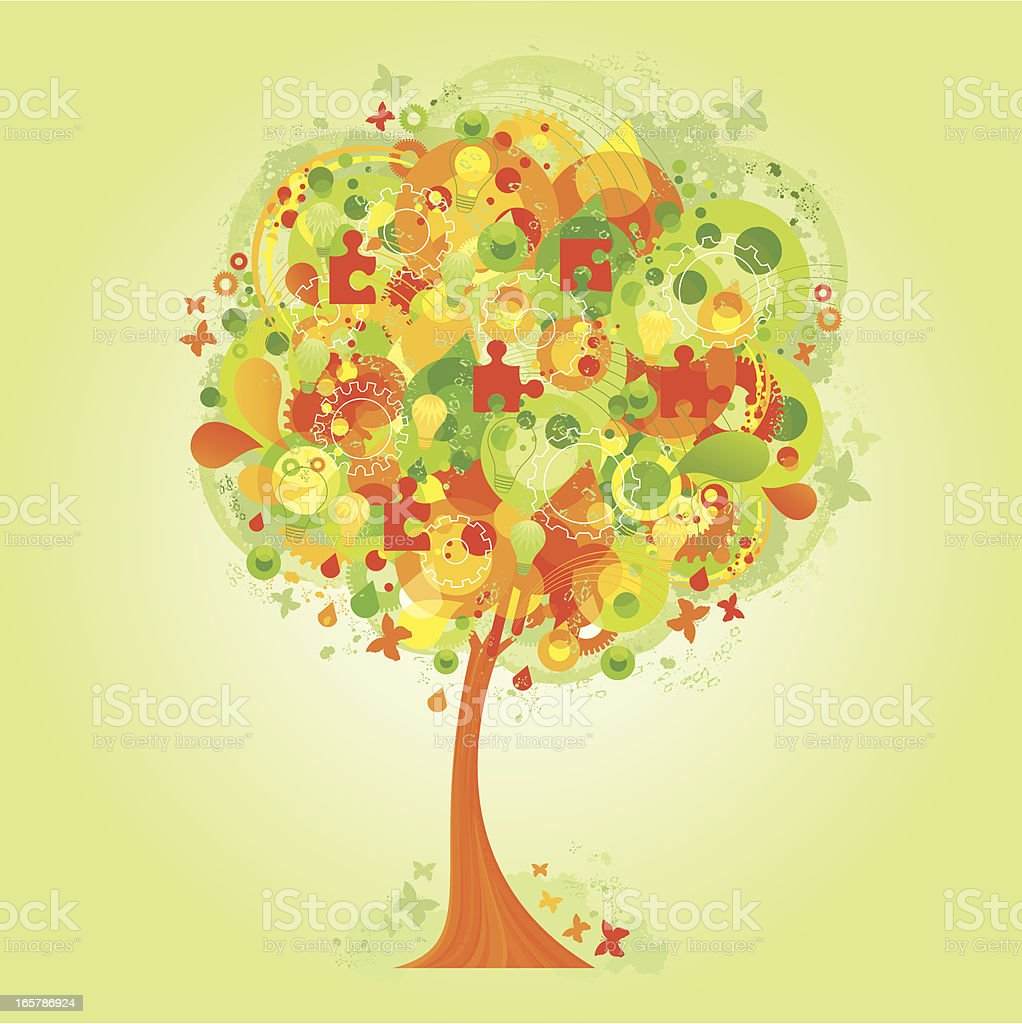 The ideas tree royalty-free stock vector art