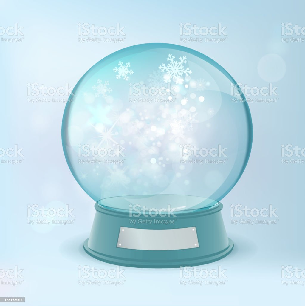 The illustration of christmas snow ball. Vector image. royalty-free stock vector art