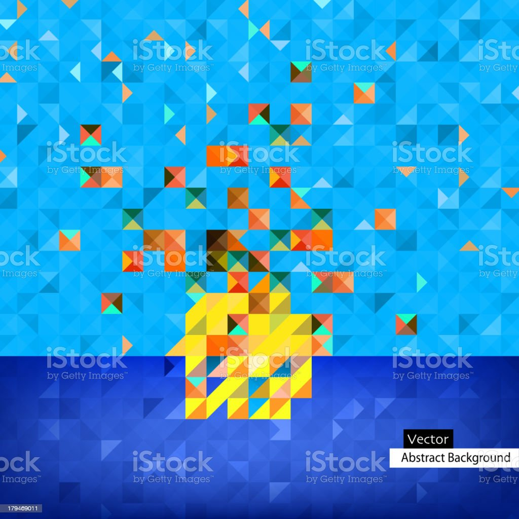 The illustration of Colorful square abstract pattern. Vector image. royalty-free stock vector art