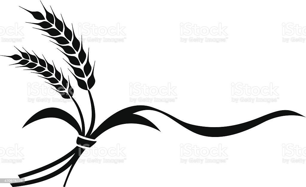 The illustration of wheat vector art illustration