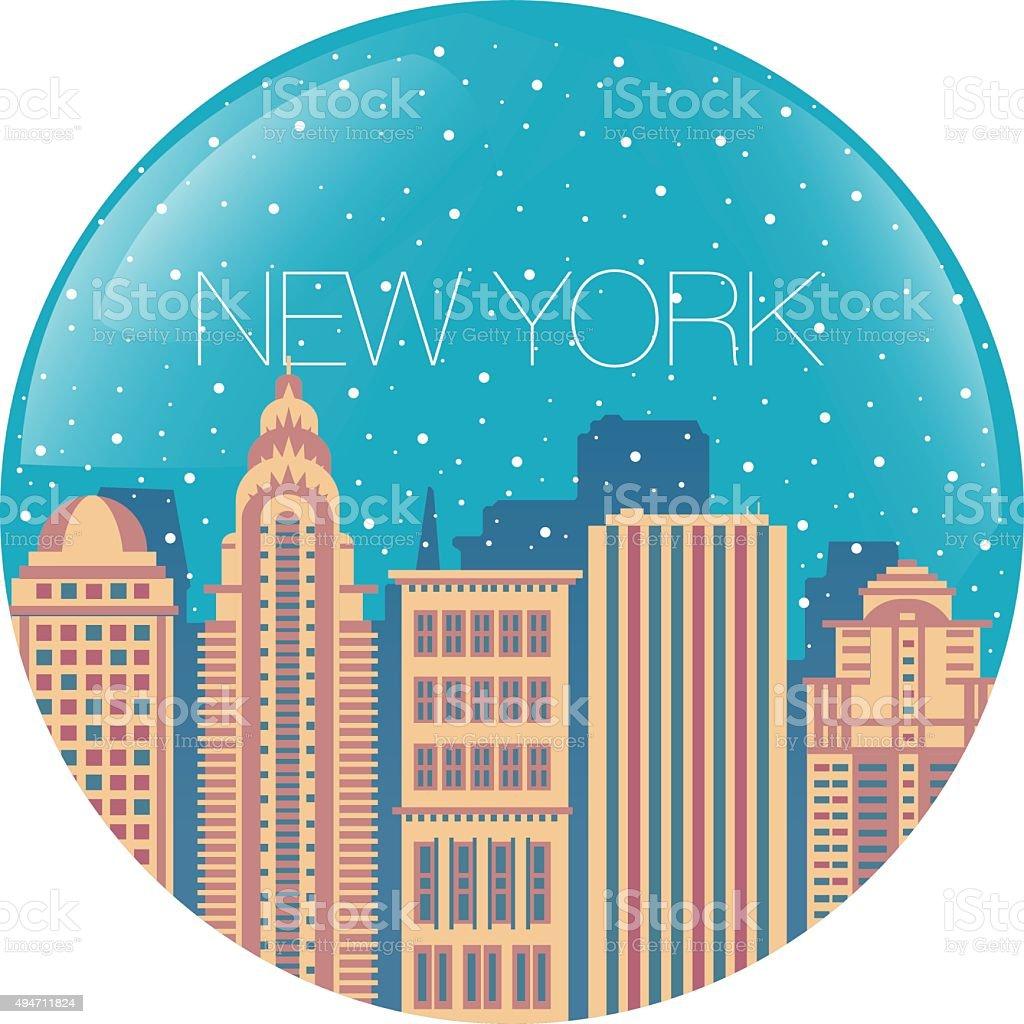 L'image de la grande ville à l'intérieur de la circle stock vecteur libres de droits libre de droits