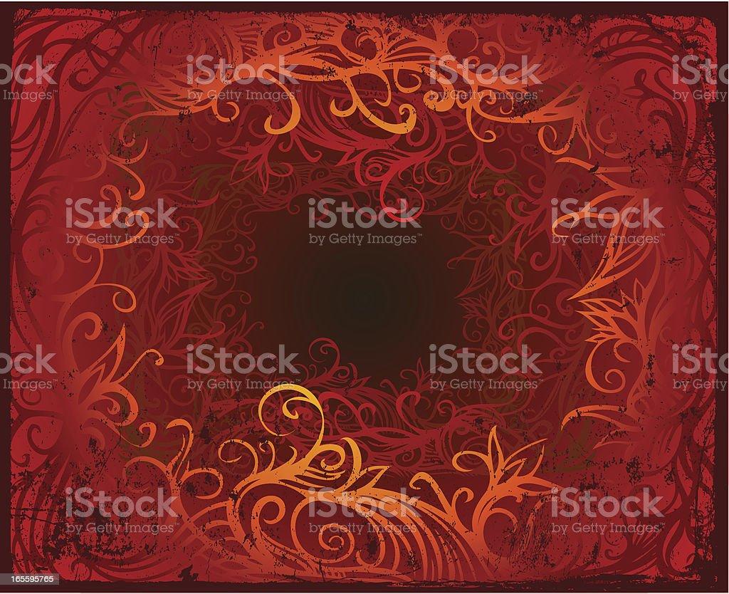 the inferno vector art illustration