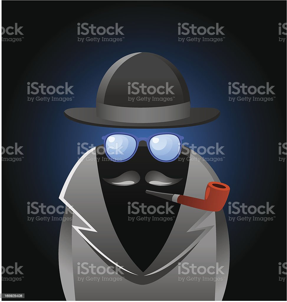 The Invisible Man royalty-free stock vector art