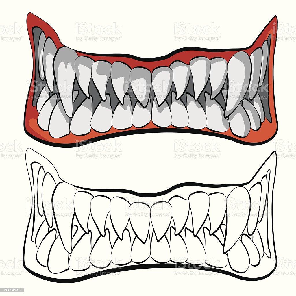 the jaws vector art illustration