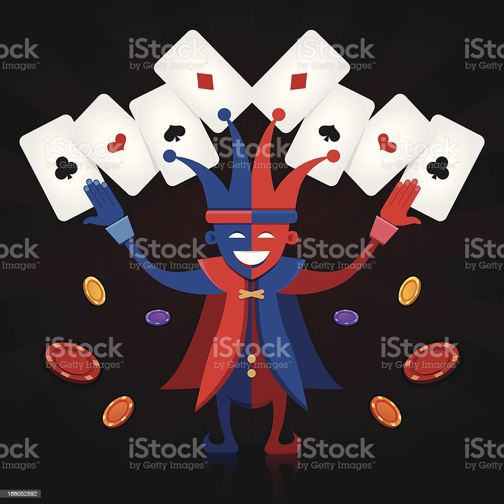 The Jester royalty-free stock vector art