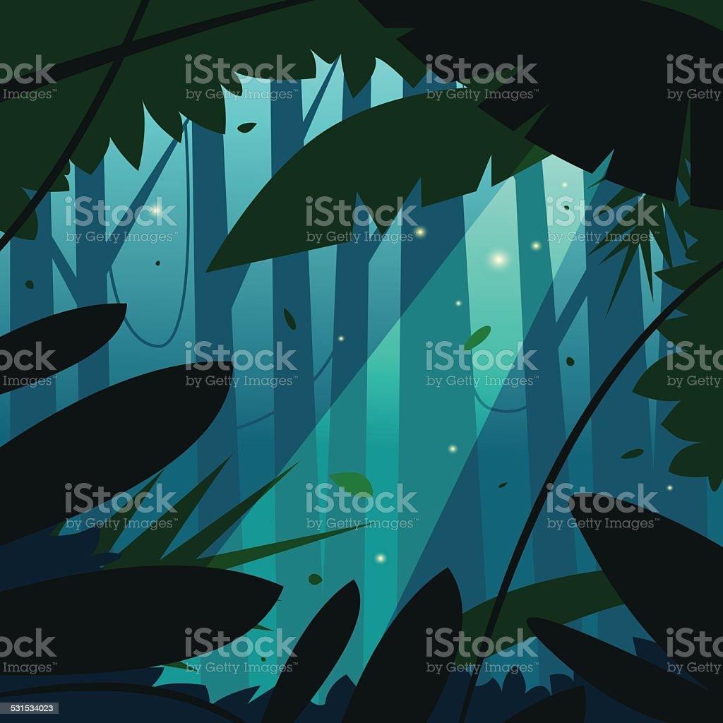 The Jungle vector art illustration