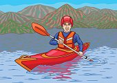 The kayaker is in the water campaign.