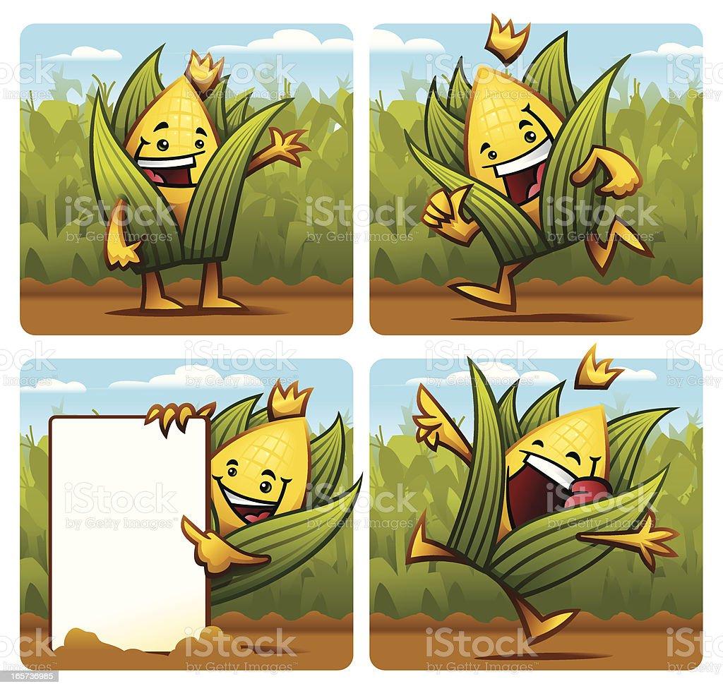 The King Corn royalty-free stock vector art
