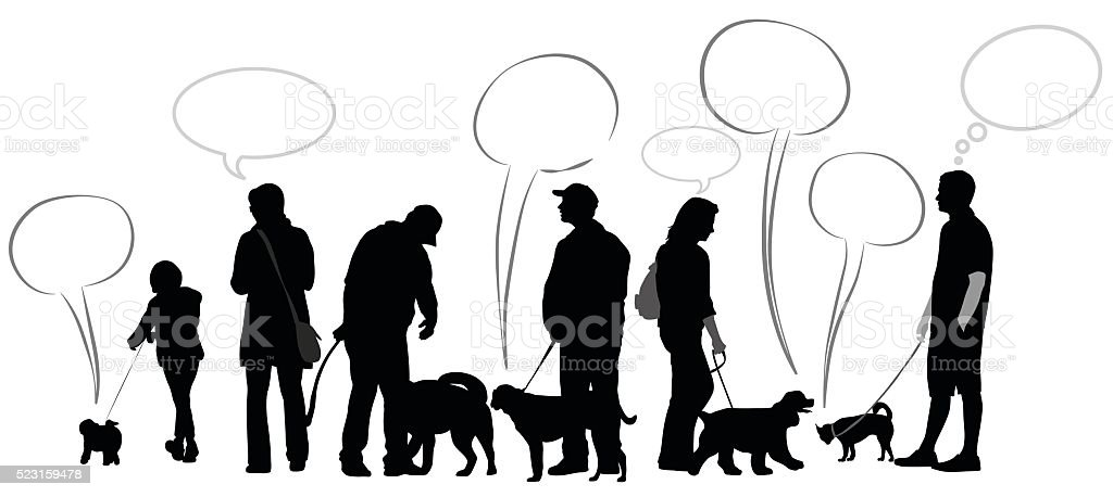 The Language Of Dogs vector art illustration