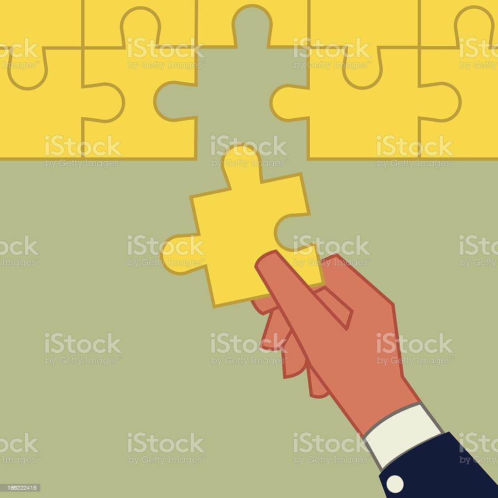 The last jigsaw royalty-free stock vector art