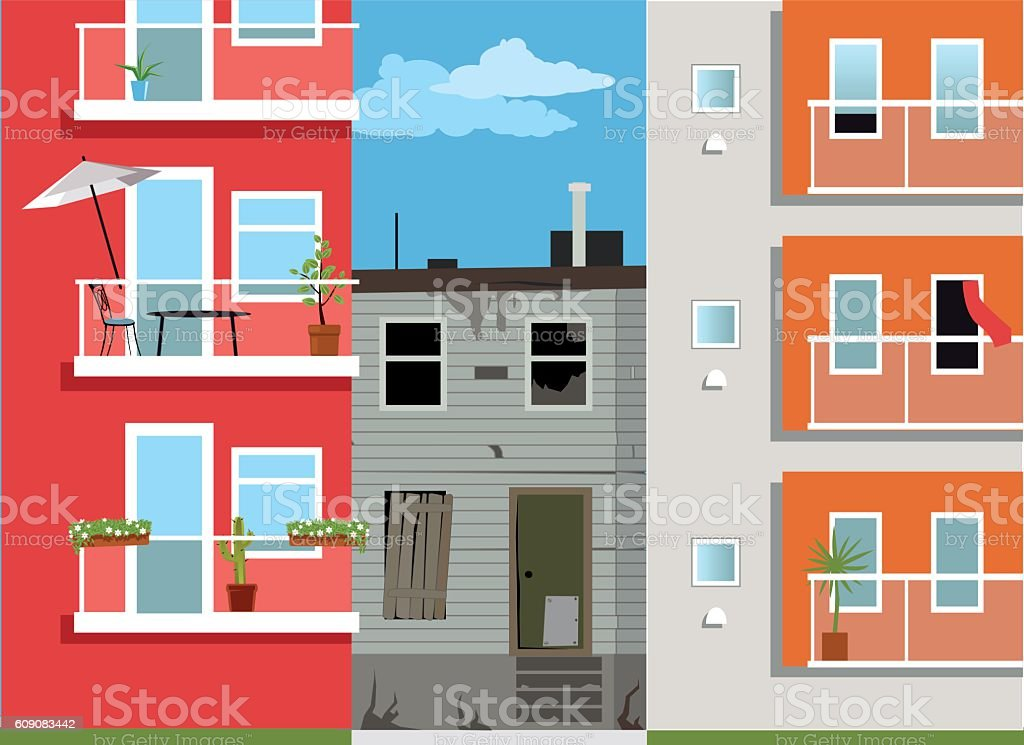 The last one on the block vector art illustration